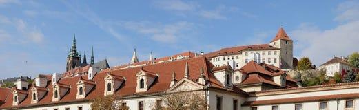 Widok antyczny Praga kasztel Zdjęcia Royalty Free