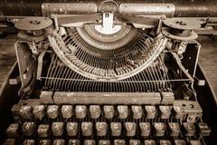 Widok antykwarski ręczny podszycia maszyna do pisania Fotografia Stock