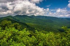 Widok Appalachians od Błękitnego grani Parkway w północy Ca obrazy royalty free