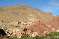 Widok arabska górska wioska obrazy royalty free