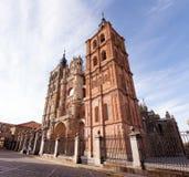Widok Astorga katedra, Hiszpania Obraz Stock
