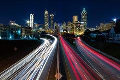 Widok Atlanta od Jackson ulicy mosta obrazy royalty free