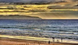 Widok Atlantycki ocean w Portstewart Zdjęcie Stock