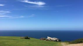 Widok Atlantycki ocean, widzieć od Monte De San Pedro parka zdjęcie stock