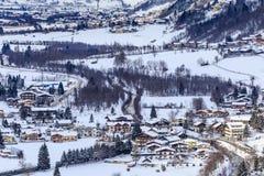 Widok austriacki zdroju i ośrodka narciarskiego Bad Gasteinl Obrazy Stock