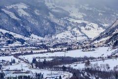 Widok austriacki zdroju i ośrodka narciarskiego Bad Gasteinl Zdjęcia Stock