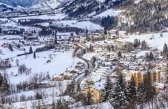 Widok austriacki zdroju i ośrodka narciarskiego Bad Gasteinl Zdjęcie Stock