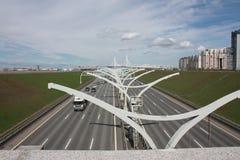 Widok autostrady St Peterburg zdjęcia royalty free