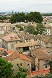 Widok Avignon miasto od palais wzgórza Zdjęcia Stock
