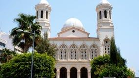 Widok Ayia Napa katedra w Limassol, Cypr Piękny widok Ayia Napa w ranku zdjęcie wideo