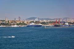 Widok Azjatycki brzeg Bosphorus od Topkapi Pa Zdjęcia Royalty Free