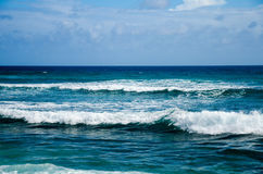 Widok Błękitne ocean fala Fotografia Royalty Free