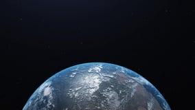 Widok b??kitna planety ziemia w przestrzeni 3D rendering, elementy ten wizerunek mebluj?cy NASA ilustracji