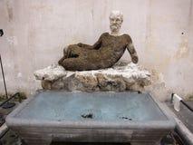 Widok Babuino fontanna Obrazy Stock