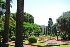 Widok Bahai ogródy Haifa atrakcje turystyczne Izrael Zdjęcia Royalty Free