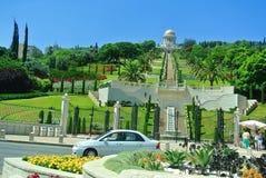 Widok Bahai ogródy Haifa atrakcje turystyczne Izrael Obraz Royalty Free