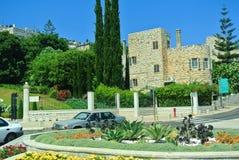 Widok Bahai ogródy Haifa atrakcje turystyczne Izrael Fotografia Royalty Free