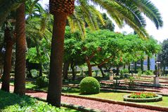 Widok Bahai ogródy Haifa atrakcje turystyczne Izrael Zdjęcia Stock