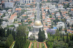 Widok Bahai ogródy w Haifa fotografia stock