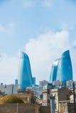 Widok Baku z nowożytnymi budynkami zdjęcie royalty free