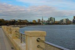 Widok Baku zatoka zdjęcie stock