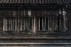 Widok balustrada wśrodku Angkor Wat w Siem Przeprowadza żniwa, Kambodża Zdjęcie Stock