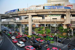 Widok Bangkok centrum miasta Zdjęcia Royalty Free