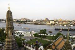 Widok Bangkok od Wata Arun Fotografia Royalty Free