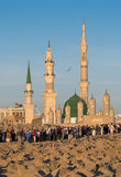 Widok Baqee ` Muzułmański cmentarz przy Masjid meczetowy Nabawi w Al M Obraz Royalty Free