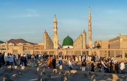 Widok Baqee ` Muzułmański cmentarz przy Masjid meczetowy Nabawi w Al M Zdjęcie Royalty Free