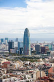 Widok Barcelona miasto z Torre Agbar przy tłem Obraz Stock
