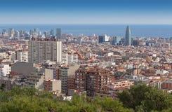 Widok Barcelona od góry Tibidabo Zdjęcie Royalty Free