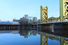 Widok Basztowy most, Sacramento, Kalifornia obrazy royalty free