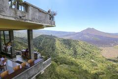 Widok Batur góra jako tło Zdjęcie Royalty Free