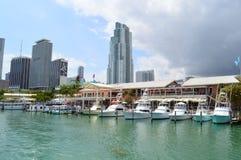Widok Bayfront park w Miami Obraz Stock