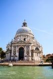 Widok bazylika St Mary zdrowie w Wenecja, Włochy Fotografia Stock