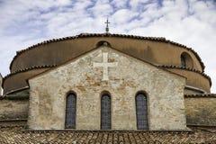 Widok bazyliki i Santa Fosca katedry dach na wyspie Torcello Zdjęcia Royalty Free