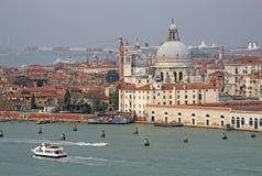Widok bazyliki Santa Maria della salut włochy Wenecji Fotografia Royalty Free