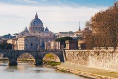 Widok bazyliki St Peter w Rzym, Włochy Obraz Stock