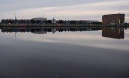 Widok BBC Roath kędziorka studio w Cardiff nad wodą t Obraz Stock