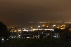 Widok bełkoty od wyżu wzgórza Zdjęcia Stock