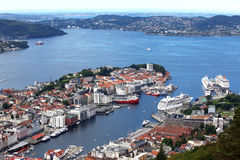 Widok Bergen Zdjęcia Royalty Free