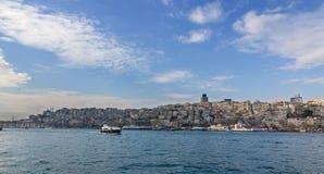 Widok Beyoglu okręg, Istanbuł, Turcja Obrazy Royalty Free