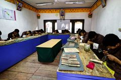 Widok Bhutan zdjęcia stock