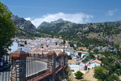 Widok biała wioska Grazalema w Andalucia Zdjęcie Royalty Free