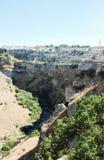Widok biel domy na falezie Matera miasto fotografia royalty free
