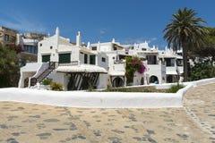 Widok Binibeca, Menorca, Hiszpania Zdjęcia Royalty Free