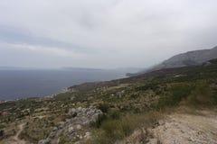Widok biokovo góra Obraz Royalty Free