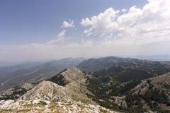 Widok biokovo góra Zdjęcia Stock