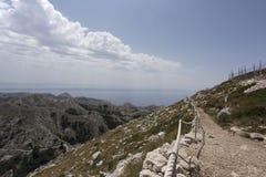 Widok biokovo góra Zdjęcie Royalty Free